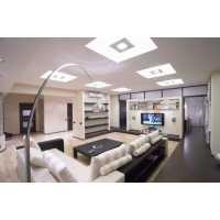 Внутреннее освещение создает настроение в гостиной